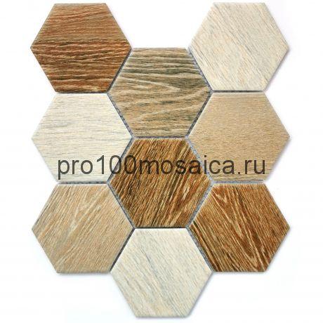 Wood comb Мозаика СОТЫ, серия PORCELAIN, размер, мм: 295*256*6
