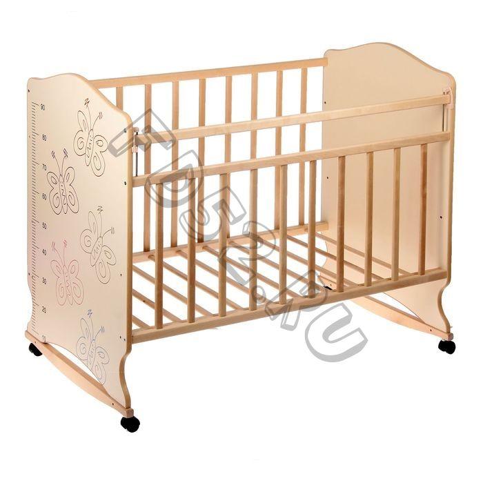 Детская кроватка «Морозко. Бабочки» с ростомером, 2187636С