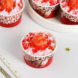 """Муляж мороженое """"В стаканчике"""" клубничное, 7х4,5 см   5213301"""