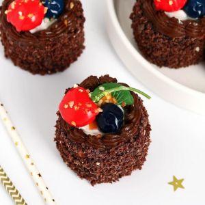"""Муляж пирожное """"Сладкое настроение """" 5,5х5,5 см шоколадное круглое   5213292"""