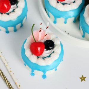 """Муляж пирожное """"Сладкое настроение """" 6,5х5 см сливки ягоды   5213286"""