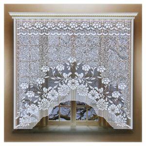 Штора без шторной ленты, ширина 170 см, высота 160 см, цвет белый