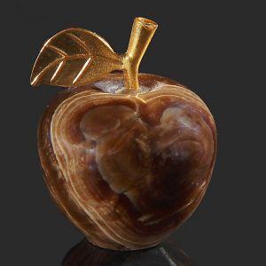 Сувенир «Яблоко», 3,8 см, чёрный оникс 3400452