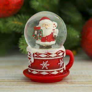 """Сувенир водяной шар в форме чашки """"Дедушка Мороз"""""""