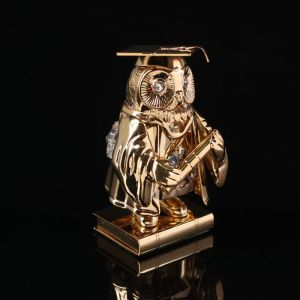 Сувенир «Сова магистр», 4?4?7,5 см, с кристаллами Сваровски 4044000