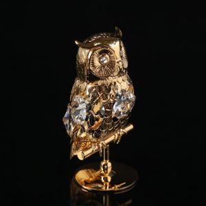 Сувенир «Филин», 4?4?7,5 см, с кристаллами Сваровски 4043998