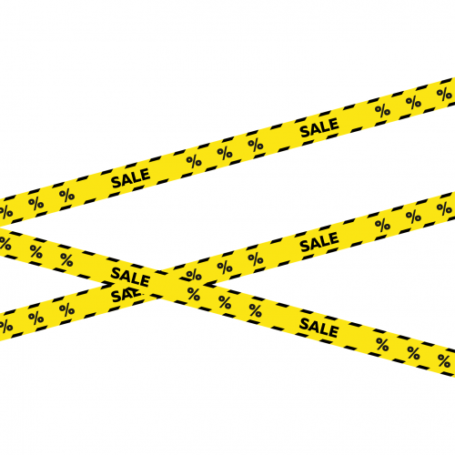 """Промолента самоклеящаяся """"SALE"""" для оформления витрины, 15 метров, 75 мм, Айдентика Технолоджи"""