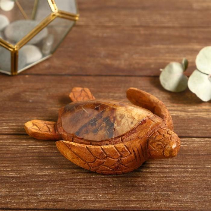 """Сувенир из дерева """"Маленькая черепашка"""" 16х12х4 см   5013711"""