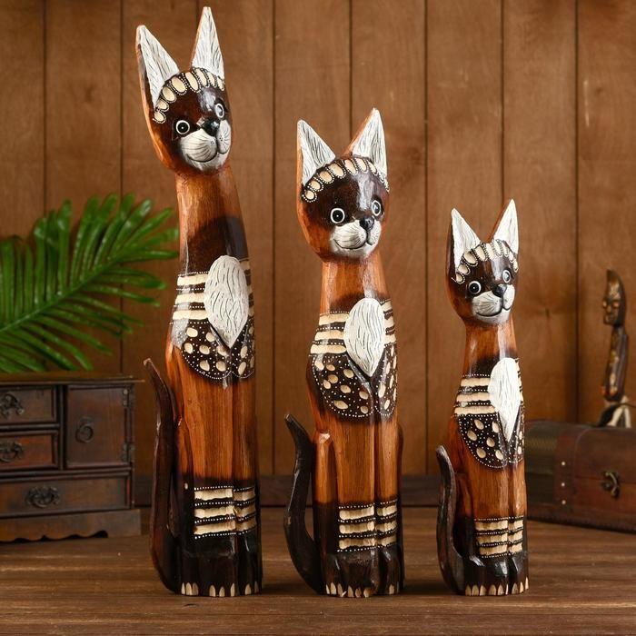 """Набор сувенирный """"Кошки с ошейниками""""(40,50,60) 27х10х60 см   3370591"""