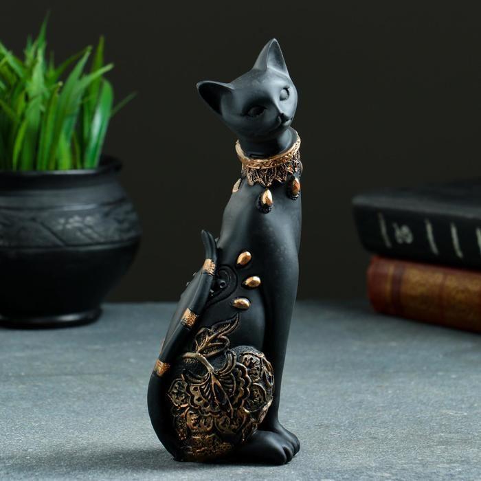 "Статуэтка ""Кошка"" черная, 20х8см   5312201"