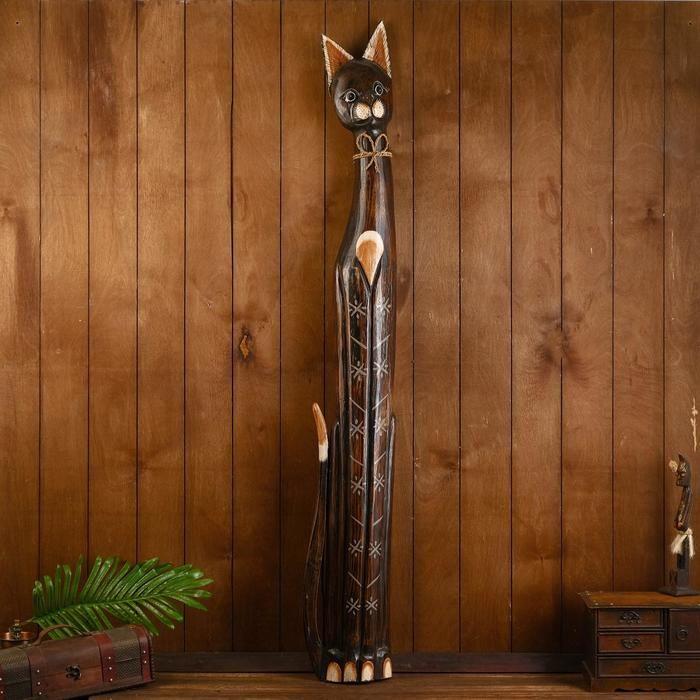 """Сувенир дерево """"Кошка с узором на лапках"""" 150х23х11 см 2027788"""