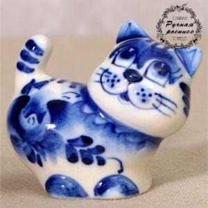 "Сувенир керамика ""Кот ""Хвост"" 5х5,5 см 2330587"