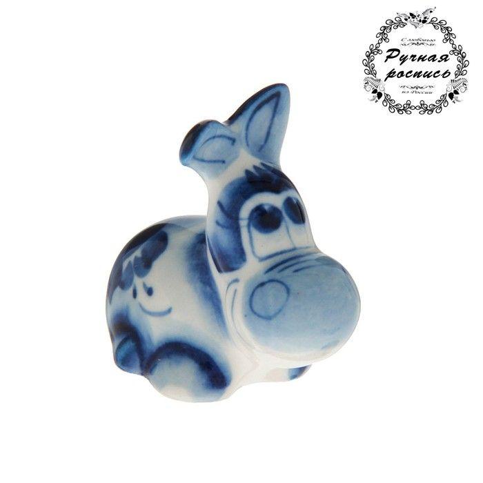 "Сувенир керамика ""Ослик маленький"" 4х2,5 см 2330622"