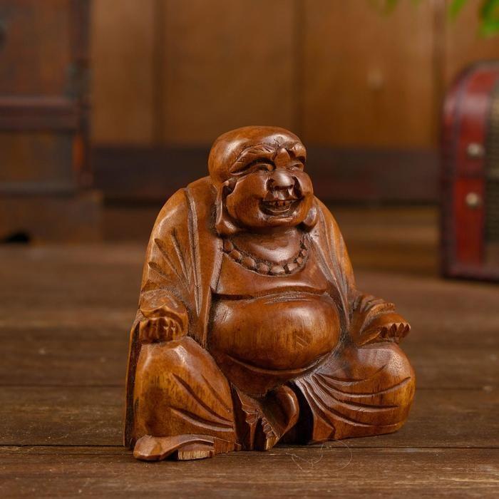 """Сувенир """"Будда"""" дерево 10х5х10 см 5392817"""
