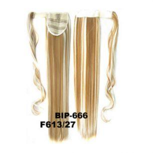 Искусственные термостойкие волосы - хвост прямые №F613/27 (55 см) -  90 гр.