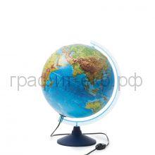 Глобус 32см физико-политический с подсветкой рельеф 13200290