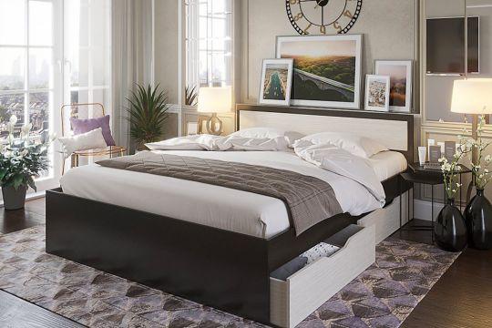 Кровать  Гармония КР-606 1,2м с ящиками