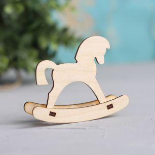 Аксессуар для куклы - Лошадка деревянная