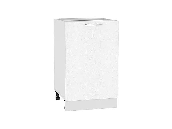 Шкаф нижний Валерия Н500 (белый металлик)