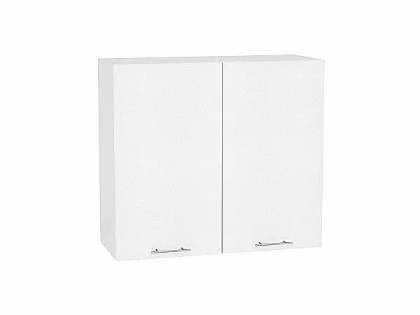 Шкаф верхний Валерия В800 (белый металлик)