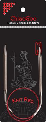 СПИЦЫ КРУГОВЫЕ CHIAOGOO SS KNIT RED (40см)