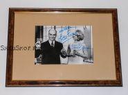 Автографы: Луи де Фюнес, Клоди Жансак. Старое промо фото. Редкость