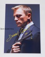 """Автограф: Дэниэл Крэйг. Казино Рояль. """"Бондиана"""". """"Джеймс Бонд"""". """"Агент 007"""""""