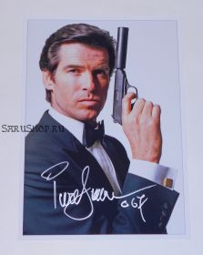 "Автограф: Пирс Броснан. ""Бондиана"". ""Джеймс Бонд"". ""Агент 007"""