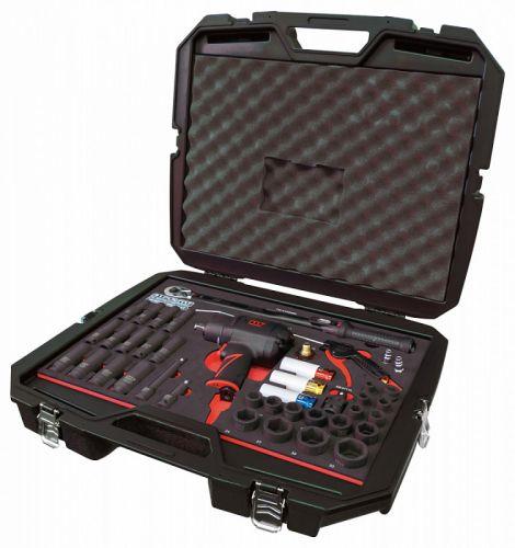 """Набор пневмоинструмента 1/2"""" с принадлежностями, ложемент, 41 предмет, в комплекте часы и стенд MIGHTY SEVEN NC-4255ZG01"""