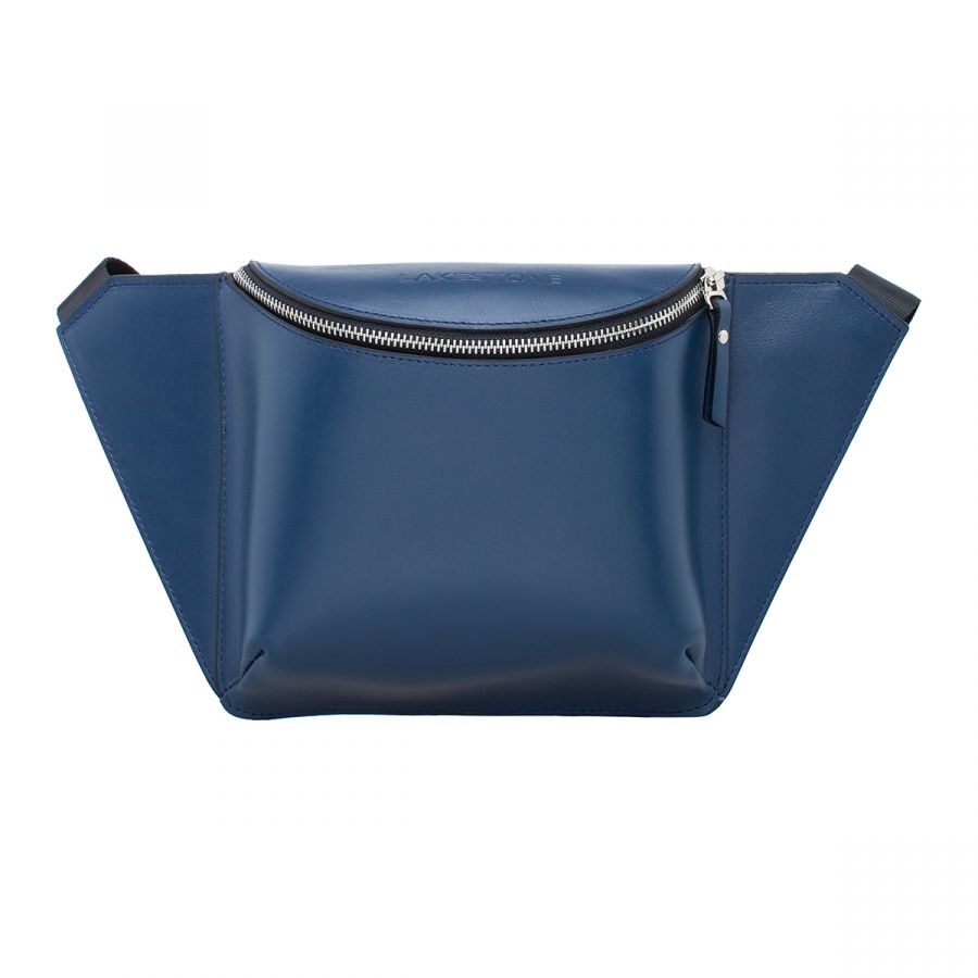 Женская кожаная поясная сумка Lakestone Bells Dark Blue
