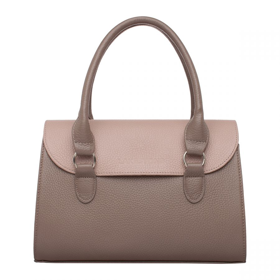 Женская кожаная сумка Lakestone Bloy Taupe