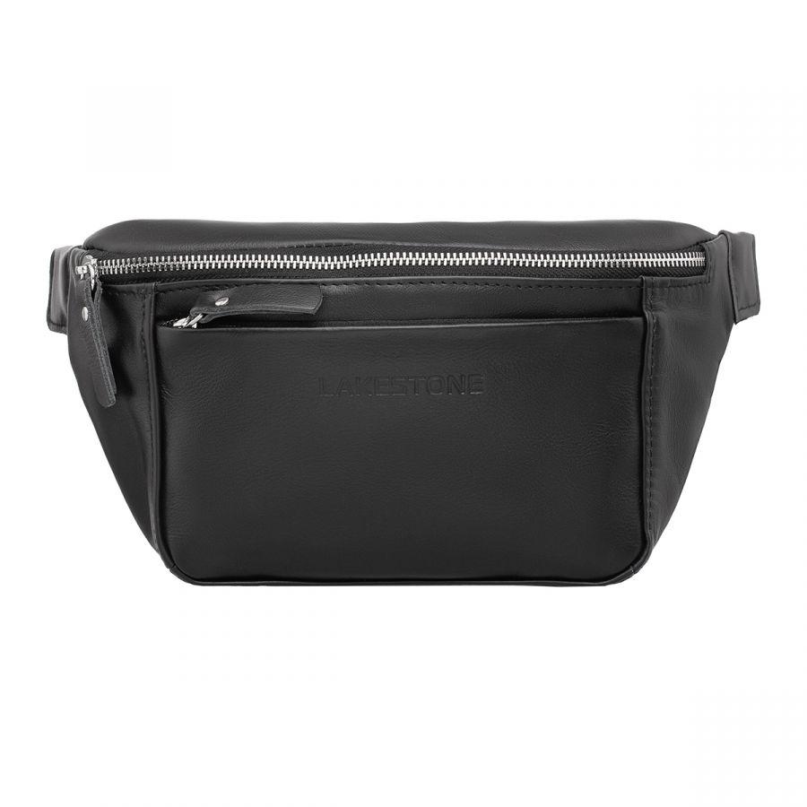 Женская кожаная поясная сумка Lakestone Lee Black