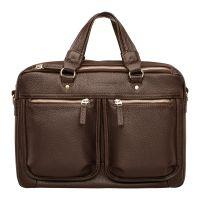 Деловая мужская кожаная сумка Lakestone Cander Brown