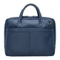 Деловая мужская кожаная сумка Lakestone Carter Dark Blue