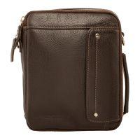 Мужская кожаная сумка через плечо Lakestone Coape Brown