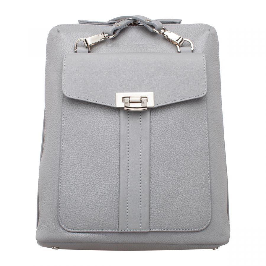 Женский кожаный рюкзак Lakestone Penrose Ash Light Grey