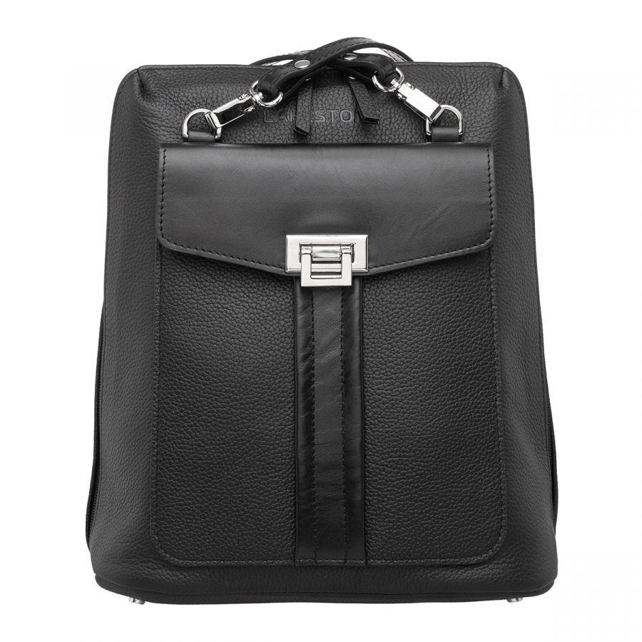 Женский кожаный рюкзак Lakestone Penrose Black