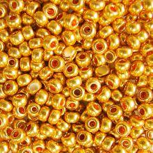 Бисер чешский 18389 золотой непрозрачный металлик Preciosa 1 сорт
