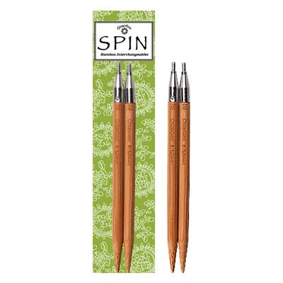 Съемные бамбуковые укороченные спицы ChiaoGoo Spin Bamboo Tips 10 см