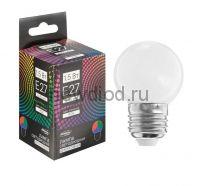 Лампа светодиодная Luazon Lighting, G45, Е27, 1,5 Вт, для белт-лайта, RGB, синхронная работа