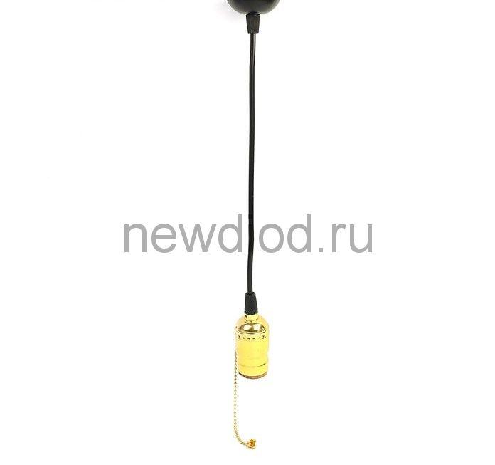 Патрон подвесной Luazon ретро выключатель на цепочке 1 метр, Е27, медный