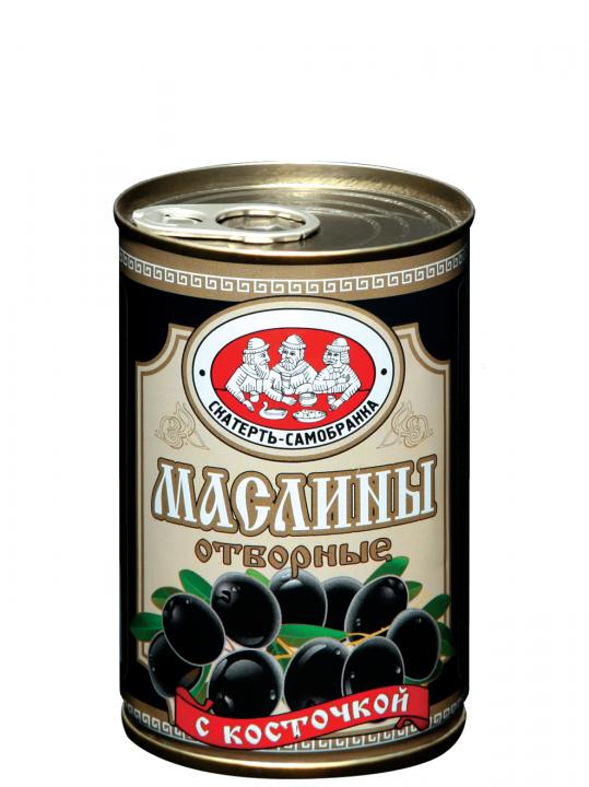 Маслины Скатерть Самобранка отборные б/к 300г ж/б