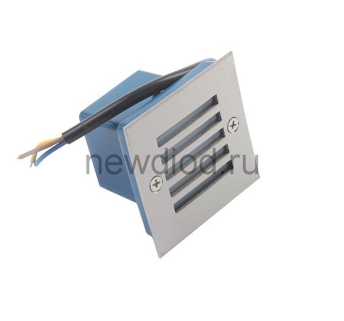 Светильник светодиодный грунтовый квадрат Luazon 2 Вт, IP65, 220 В, КРАСНЫЙ