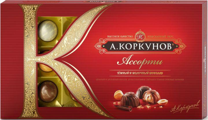 Набор шок. Коркунов Ассорти темный/молочный шоколад 192г