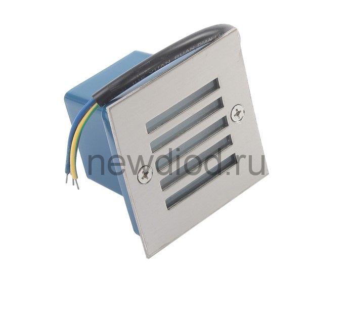 Светильник светодиодный грунтовый квадрат Luazon 2 Вт, IP65, 220 В, ЗЕЛЕНЫЙ