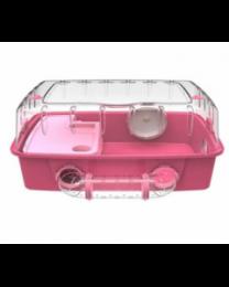 Клетка террариум для хомяков с прозрачной крышей и набором