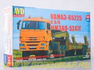 Сборная модель КАМАЗ-65225 с полуприцепом ЧМЗАП-5247Г