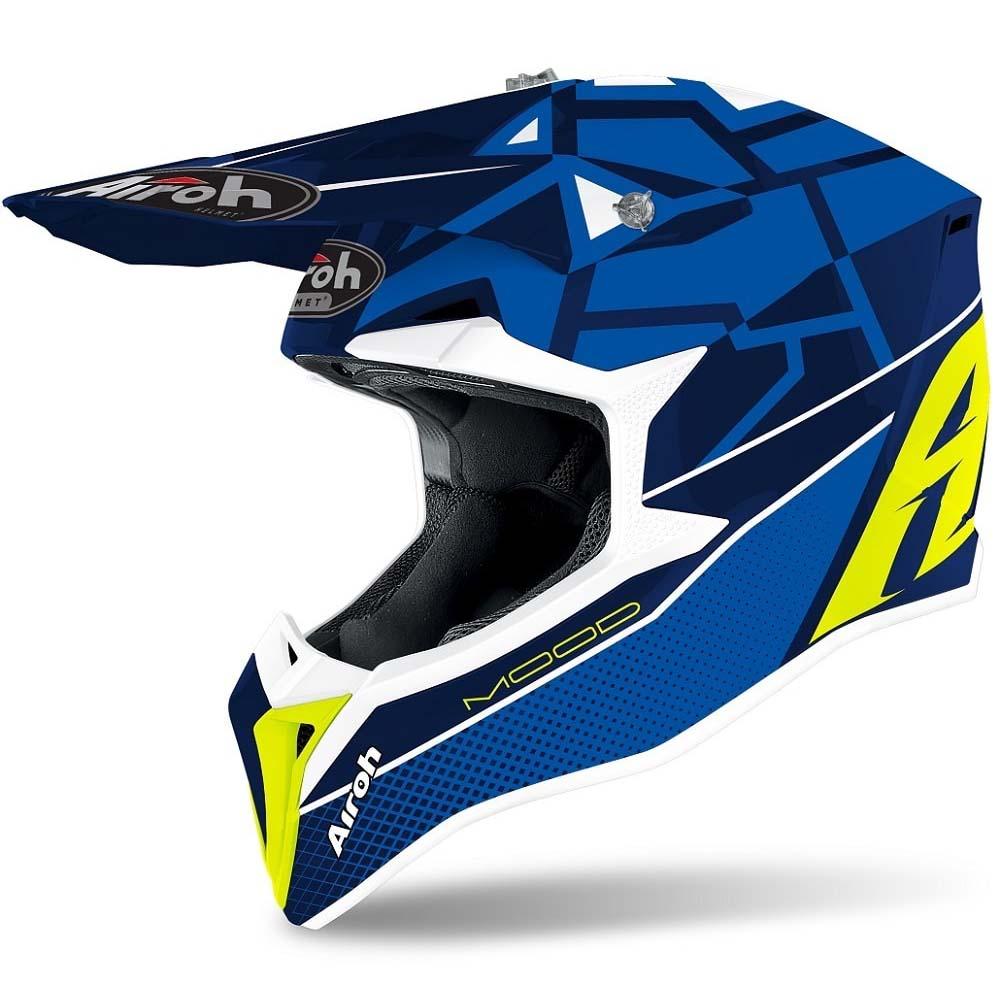 Airoh Wraap Mood Blue Gloss шлем внедорожный