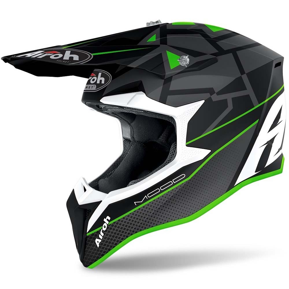 Airoh Wraap Mood Green Matt шлем внедорожный