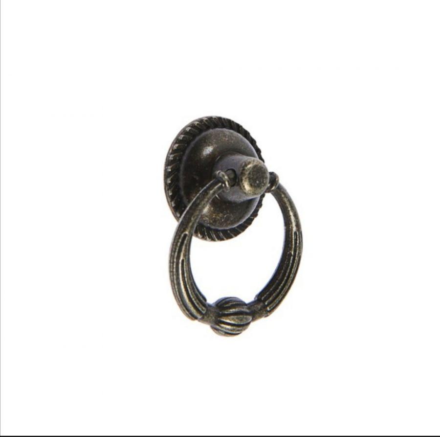 Ручка-кнопка Винтаж №028, цвет бронза, 4 см